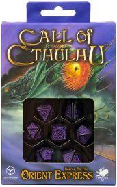 Набор кубиков Call of Cthulhu, 7 шт., Horror on the Orient Express Black/Purple