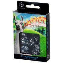 Набор кубиков Shimmering Llama, 7 шт., Glittering dark blue/White
