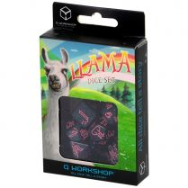 Набор кубиков Sparkling Llama, 7 шт., Glittering dark blue/Pink
