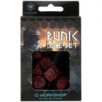 Набор кубиков Runic, 7 шт., Black & red
