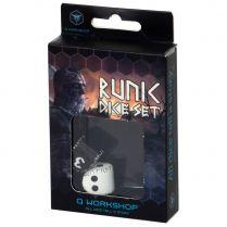 Набор кубиков D2&D4 Runic Dice, 2 шт., Black/White и White/Black