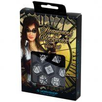 Набор кубиков Steampunk Clockwork, 7 шт., Black/White