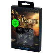 Набор кубиков Steampunk, 7 шт., Black/Glow-in-the-dark
