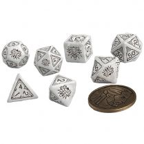Набор кубиков The Witcher Dice Set: Geralt  – The White Wolf, 7 шт.