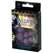 Набор кубиков Wizard, 7 шт., Dark-blue/Orange