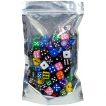 Набор кубиков D6 (100штук) в ассортименте