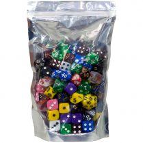 Набор кубиков D4-D20 (100 штук) в ассортименте