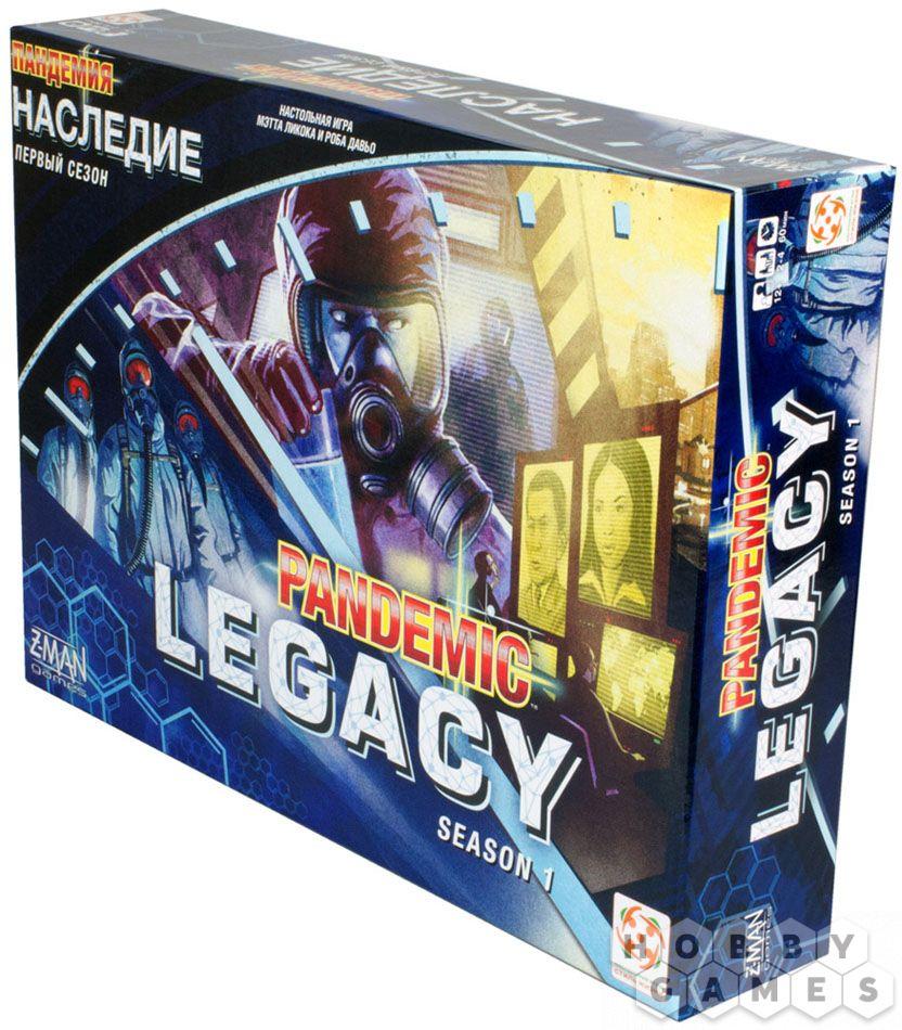 Настольная игра Пандемия. Наследие голубая коробка (Pandemic Legaci ru Blue)