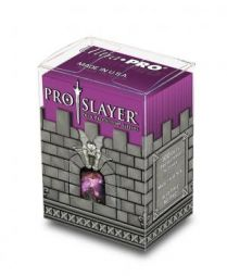 Коробочка с протекторами Ultra-Pro (100 шт., 66x91 мм): пластиковая Pro-Slayer розовая