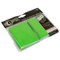 Протекторы Ultra-Pro Eclipse Pro-Matte Deck Protector (80 шт., 66х91 мм) зелёные матовые
