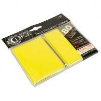 Протекторы Ultra-Pro Eclipse Pro-Matte Deck Protector (80 шт., 66х91 мм) жёлтые матовые