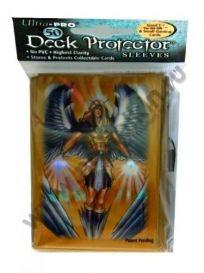 Протекторы Ultra-Pro (50 шт., 59x86 мм): мини золотой ангел