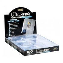 Набор листов Ultra-Pro (3х3 кармашка на листе): Платиновые (100 шт.)