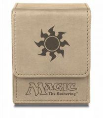 Коробочка Ultra-Pro кожаная на 100 карт: Символ белой маны