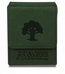 Коробочка Ultra-Pro кожаная на 100 карт: Символ зелёной маны