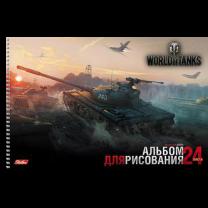 Альбомы для рисования World of Tanks А4, 24 л. (на спирали)