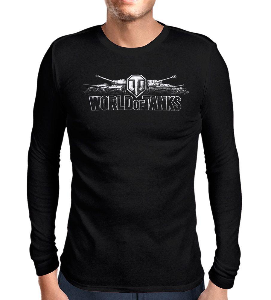 Купить Футболка ArmadaStar с длинным рукавом World of Tanks (Арт-7, черная, XXL), Настольная игра ООО АрмадаСтар