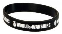 Браслет силиконовый World of Tanks, World of Warships чёрный