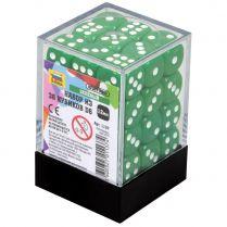 Набор из 36 кубиков D6, 12 мм, зелёный