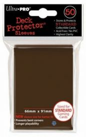 Протекторы Ultra-Pro (50шт., 66x91 мм): коричневые