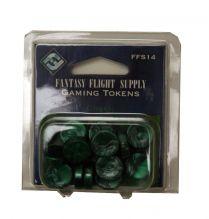Игровые жетоны (разноцветные, 20 шт.): зеленые