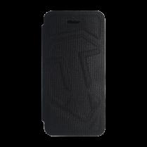 Чехол-Книжка для iPhone 4/4S c логотипом WOT «Черный текстиль»