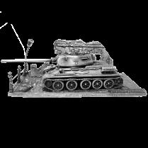 Танк Т-34-85 с подставкой (1:72)